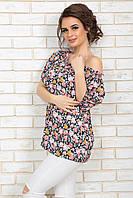 Блузка летняя Ариан цветочный принт