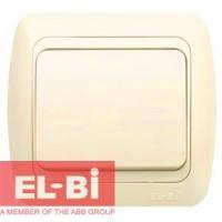 Выключатель 1-клавишный крем EL-BI Tuna 502-0300-200 (без вставки)