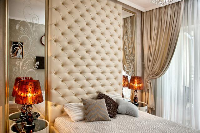 Ліжка з високим узголів'ям (до стелі і на стелі)