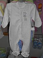 Комбинезон человечек для новорожденных кулир р.50-56,56-62,62-68,68-74,74-80
