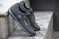 Кроссовки, спортивные туфли кожаные Columbia реплика мужские черные 2017. Топ