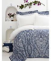 Набор постельное белье с покрывалом Karaca Home - Santorini 2017-2 евро