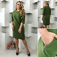 Платье женское, модель 726, хаки, фото 1