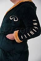 Мужской халат махровый зеленный Infiniti