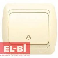 Выключатель 1 клавишный Звонок крем EL-BI Tuna 502-0300-207 (без вставки)