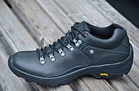 Кроссовки, полуботинки натуральная кожа мужские черные. Топ, фото 1