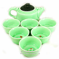 Набор китайской чайной церемонии Фарфор 7 предметов подарочный 9271