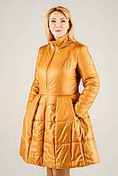 Женская демисезонная  куртка Болеро охра 44-50 размеры