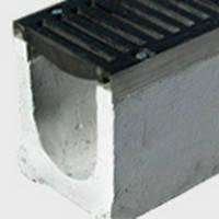 Лоток бетонный Maxi200 с решеткой чугунной