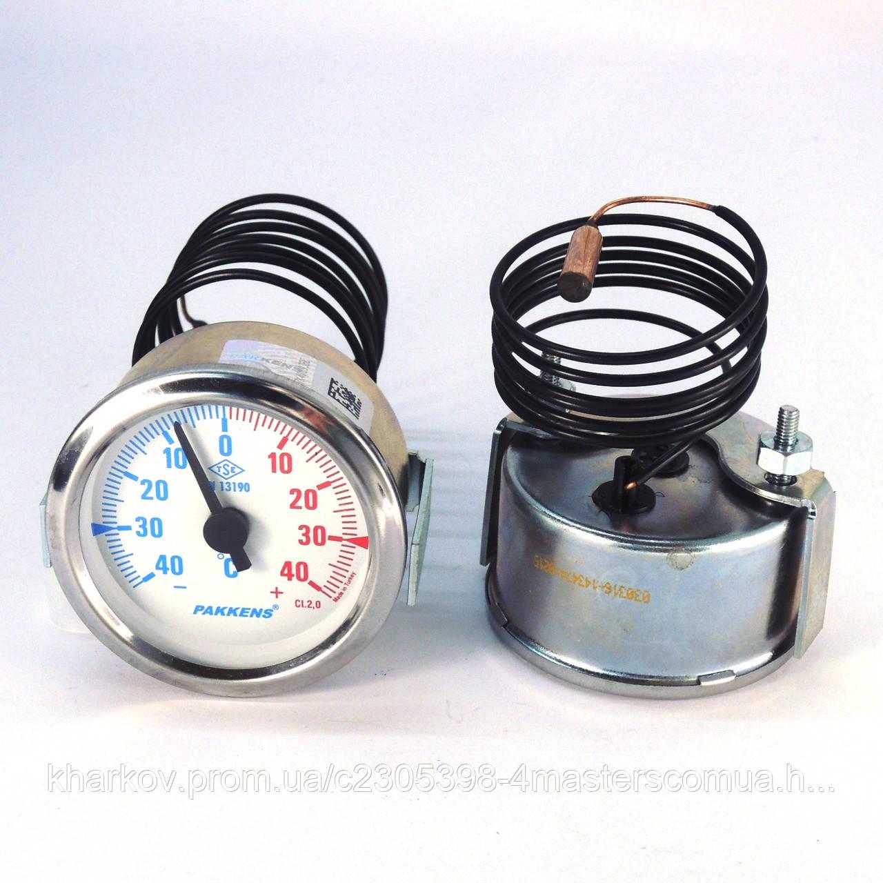 Термометр ± 40°С с выносным датчиком 1 м Ø60, Pakkens Турция
