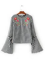 Блузка женская вышитая 404416 Блузки с вышивкой реплика Zara