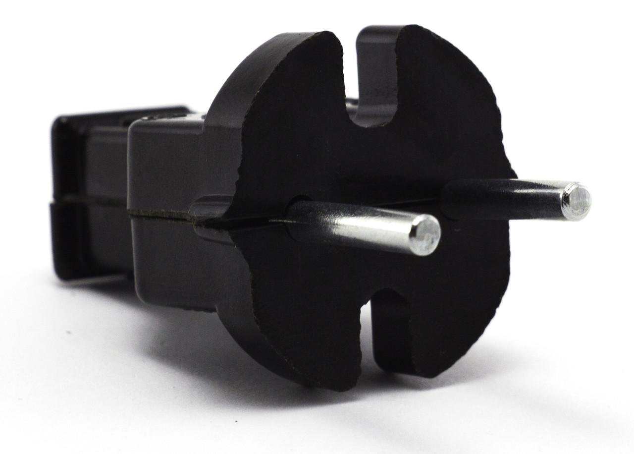 Вилка простая 6А В6-001 карболитовая черная