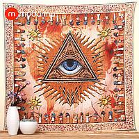 Покрывало Sun Orange Indian Mandala Tapestry
