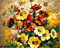 Картины по номерам 40 × 50 см. Букет ярких цветов худ. Афремов, Леонид