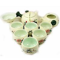 Набор китайской чайной церемонии Фарфор 10 предметов подарочный 9272