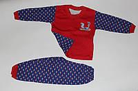 Детская пижама Синий с красным Размер 98 - 104 см