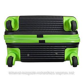 Валізу на колесах midi Monopol Santorin чорно-салатовий, фото 3