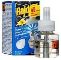 """Жидкость от комаров Raid 45 ночей """"Натуральный Эвкалипт"""" для электрофумигаторов без запаха"""