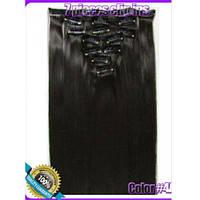 Волосы на заколках цвет №4А темно-коричневый
