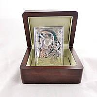 Икона Казанская в деревянной шкатулке