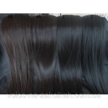 Волосы на заколках цвет №6B шоколад, фото 2