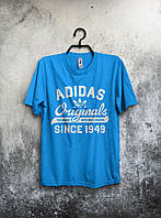 Футболка мужская Adidas Originals (голубая) реплика