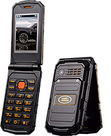 Раскладной противоударный металлический телефон Land Rover Tkexun G5 на 2 сим батарея 2800Мач