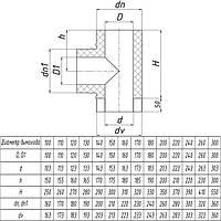 Тройник для дымохода из нержавеющей стали с теплоизоляцией d 140/200мм s 0,5/0,5мм α 45°