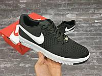 Кроссовки Nike Air Force Flyknit Black мужские