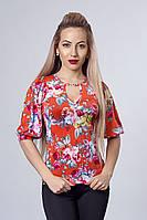 Кофточка женская модель 225-3 , размеры 46,48,50 красная
