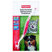 Подвійна зубна щітка для собак і котів Beaphar
