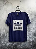 Футболка мужская Adidas (темно-синяя)