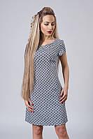 Платье мод. 277-14,размер 40,44,46 серый цветок