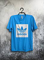 Футболка мужская Adidas (голубая)
