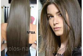 Волосы на заколках цвет №8A  пепельно-русый