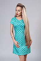 Платье мод. 277-17,размер 46 шанель бирюза