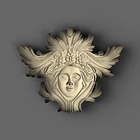 Центральный резной декор из дерева 185х148