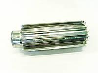 Труба-радиатор для дымохода из нержавеющей стали d 125мм s 1мм
