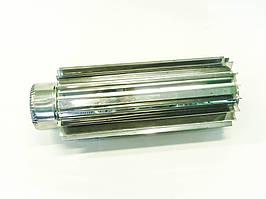 Труба-радиатор для дымохода из нержавеющей стали d 130мм s 0,8мм