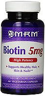 Биотин MRM, 5 мг, 60 вегетарианских капсул