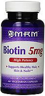 Биотин MRM, 5 мг, 60 вегетарианских капсул, фото 1