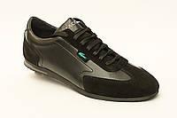 Мужские кожаные кроссовки Lacoste