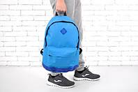 Спортивный рюкзак 114764 голубой школьный дно из кожзама 46x33x20см