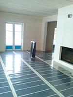 Отопление плёнкой Heat Plus в часном доме. Дом отапливается только с помощью напольной системы отопления.