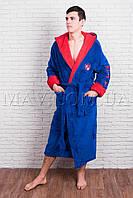 Мужской халат   BMW голубой
