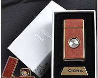 """Спиральная USB зажигалка """"Louis Vuitton"""" №4792B-2, отличный подарок, обтянута кожей, в коробке, выделяемся"""