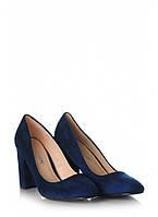 Синие туфли на устойчивом каблуке M17-1BL