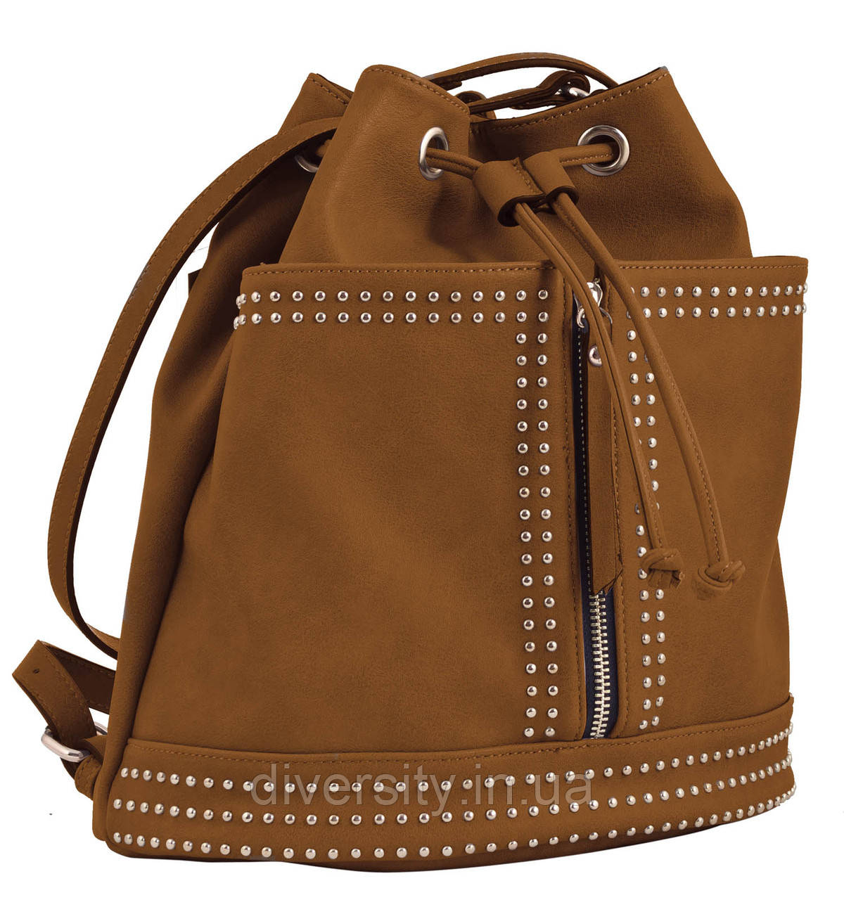 Стильная cумка- рюкзак  Weekend от компании Yes  рыжая, 30*27*15.5