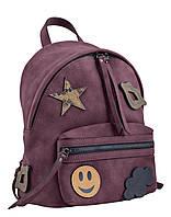 Стильная cумка-рюкзак  Weekend от компании Yes бордо, 28*24.5*14,5