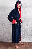Мужской халат  синий